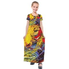 Yellow Chik 3 Kids  Short Sleeve Maxi Dress by bestdesignintheworld