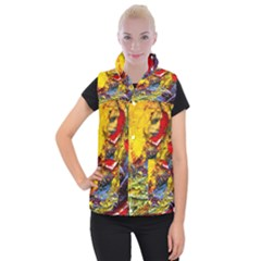 Yellow Chik 3 Women s Button Up Vest by bestdesignintheworld
