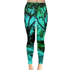 Hot Day In Dallas 50 Leggings  by bestdesignintheworld