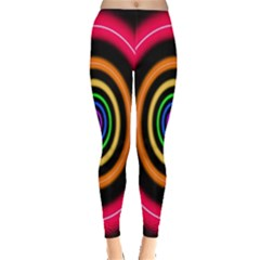 Neon Light Abstract Pattern Lines Leggings