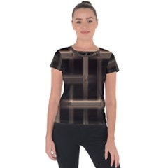 Metal Pattern Background Texture Short Sleeve Sports Top  by Sapixe