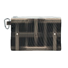 Metal Pattern Background Texture Canvas Cosmetic Bag (large)