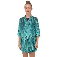 Design Backdrop Abstract Wallpaper Half Sleeve Chiffon Kimono by Sapixe
