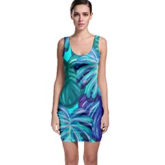 Leaves Tropical Palma Jungle Bodycon Dress by Sapixe
