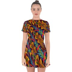 Background Abstract Texture Drop Hem Mini Chiffon Dress by Sapixe