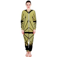 Window About Glass Metal Weathered Onepiece Jumpsuit (ladies)  by Sapixe