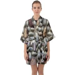 The Stones Facade Wall Building Quarter Sleeve Kimono Robe by Sapixe