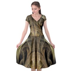 Fractal Art Graphic Design Image Cap Sleeve Wrap Front Dress by Sapixe