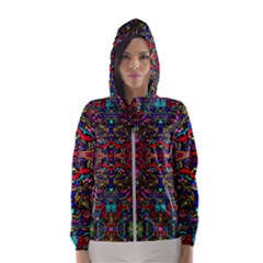 Color Maze Of Minds Hooded Windbreaker (women) by MRTACPANS