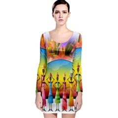 African American Women Long Sleeve Bodycon Dress by AlteredStates