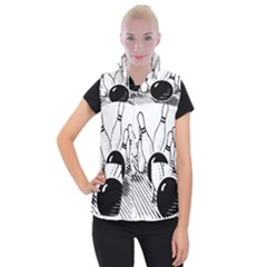 Bowling Ball Sport Women s Button Up Vest