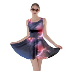 Volcano Lightning Wallpapers Flash Strom Skater Dress by AnjaniArt