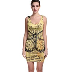 Vintage Butterfly Art Antique Bodycon Dress