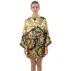 Vintage Butterfly Art Antique Long Sleeve Kimono Robe by AnjaniArt