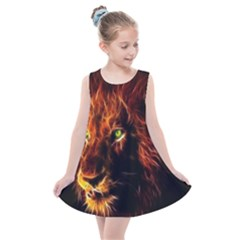 King Lion Wallpaper Animals Kids  Summer Dress by AnjaniArt