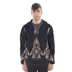 King Abstract Lion Painting Hooded Windbreaker (men) by AnjaniArt