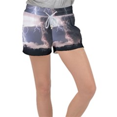 Lighting Flash Fire Wallpapers Women s Velour Lounge Shorts by AnjaniArt