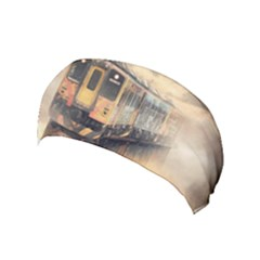 Manipulation Ghost Train Painting Yoga Headband by AnjaniArt