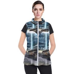 Space Galaxy Hole Women s Puffer Vest