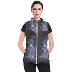 Star Night Volcano Lightning Wallpapers Flash Strom Women s Puffer Vest by AnjaniArt