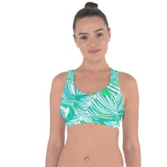Painting Leafe Green Summer Cross String Back Sports Bra by AnjaniArt