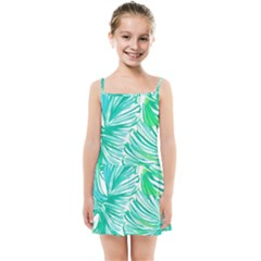 Painting Leafe Green Summer Kids Summer Sun Dress