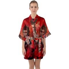 The Fairy Of Music Quarter Sleeve Kimono Robe by FantasyWorld7