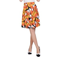 Candy Corn Pattern A Line Skirt by bloomingvinedesign