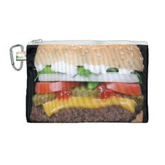 Abstract Barbeque Bbq Beauty Beef Canvas Cosmetic Bag (large) by Samandel