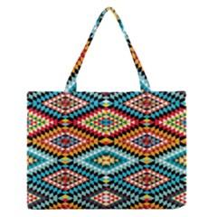 African Tribal Patterns Zipper Medium Tote Bag