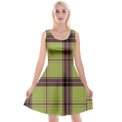 Avocado Green Plaid Reversible Velvet Sleeveless Dress by snowwhitegirl