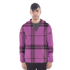 Violet Plaid Hooded Windbreaker (men) by snowwhitegirl