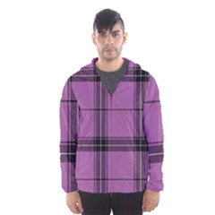 Lilac Plaid Hooded Windbreaker (men) by snowwhitegirl