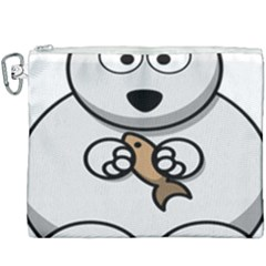 Bear Polar Bear Arctic Fish Mammal Canvas Cosmetic Bag (xxxl) by Samandel