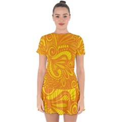 Pop Sunny Drop Hem Mini Chiffon Dress by ArtByAmyMinori