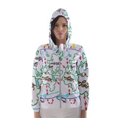 Atw Clr 2 Atw Pro Hooded Windbreaker (women) by RWTFSWIMWEAR