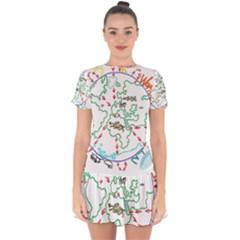 Atw Clr 2 Atw Pro Drop Hem Mini Chiffon Dress by RWTFSWIMWEAR