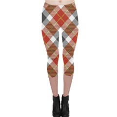 Smart Plaid Warm Colors Capri Leggings  by ImpressiveMoments
