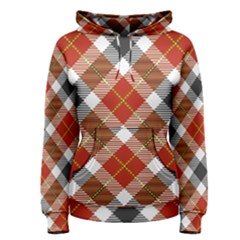 Smart Plaid Warm Colors Women s Pullover Hoodie by ImpressiveMoments