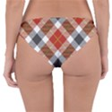 Smart Plaid Warm Colors Reversible Hipster Bikini Bottoms View2