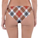 Smart Plaid Warm Colors Reversible Hipster Bikini Bottoms View4