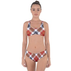 Smart Plaid Warm Colors Criss Cross Bikini Set by ImpressiveMoments
