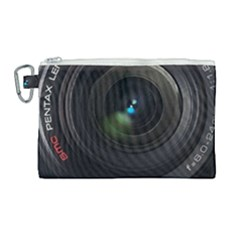 Pentax Camera Canvas Cosmetic Bag (large)