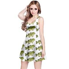 Green Small Fish Water Reversible Sleeveless Dress