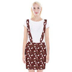 Cartoon Mouse Christmas Pattern Braces Suspender Skirt