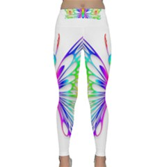 Rainbow Butterfly Classic Yoga Leggings by amazinganimals