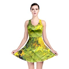 Yellow Chik 5 Reversible Skater Dress by bestdesignintheworld