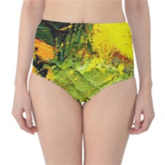 Yellow Chik 5 Classic High-waist Bikini Bottoms by bestdesignintheworld