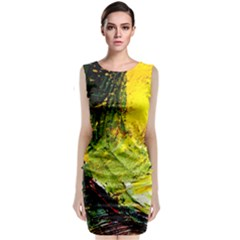Yellow Chik 5 Classic Sleeveless Midi Dress by bestdesignintheworld