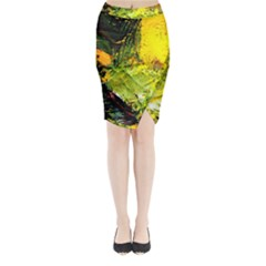 Yellow Chik 5 Midi Wrap Pencil Skirt by bestdesignintheworld